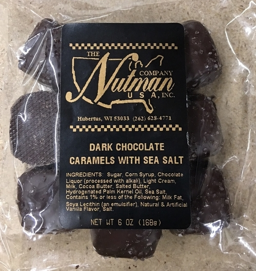 Chocolate Caramels – Dark With Sea Salt (6 Oz)